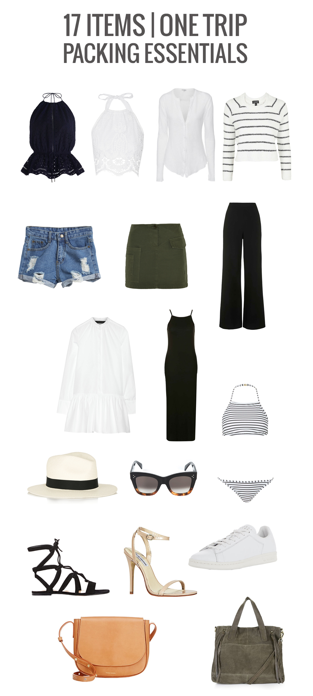 WHAT TO PACK FOR A VACATION PINTEREST MINIMAL TRENDY MARIANNA HEWITT TRAVEL BLOG