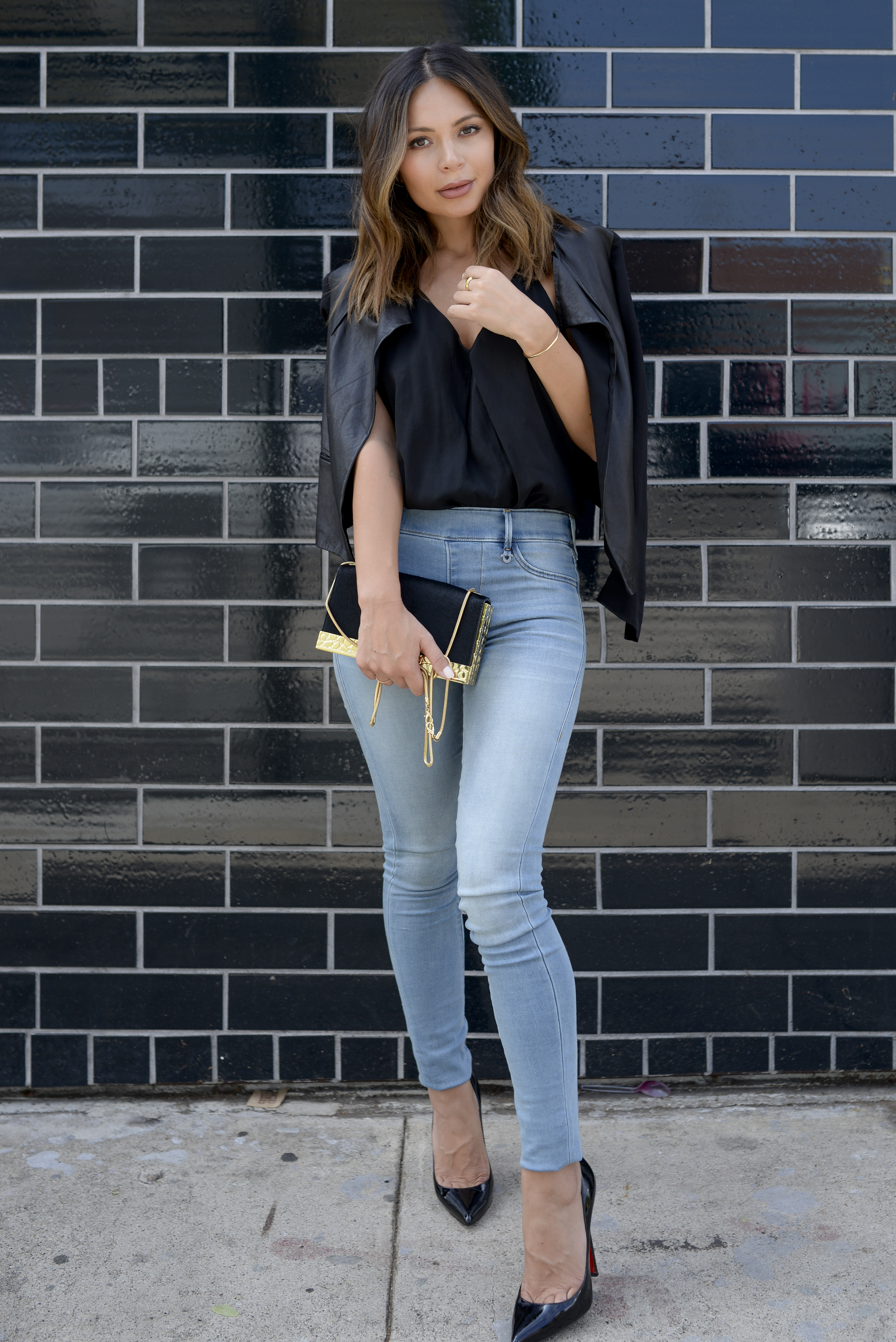 d0740f3a10 If you find yourself trying to create an outfit around denim of any color  and you can t quite get the chic factor going