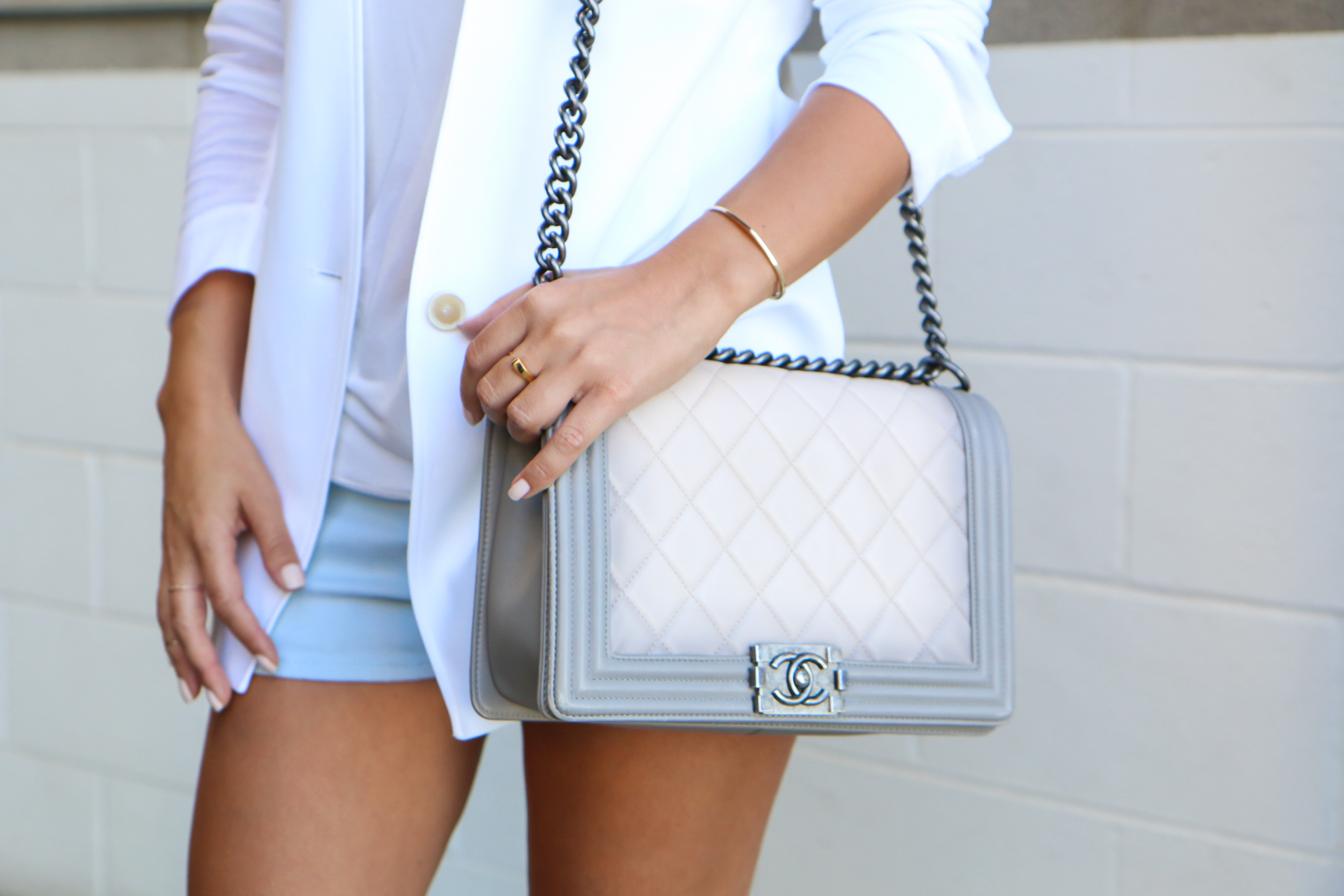 Marianna Hewitt chanel boy bag ombre special edition los angeles fashion blogger
