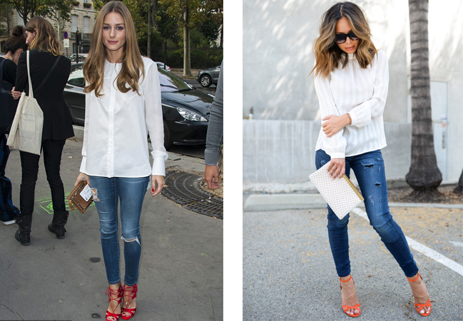 recreate olivia palermo outfit jeans