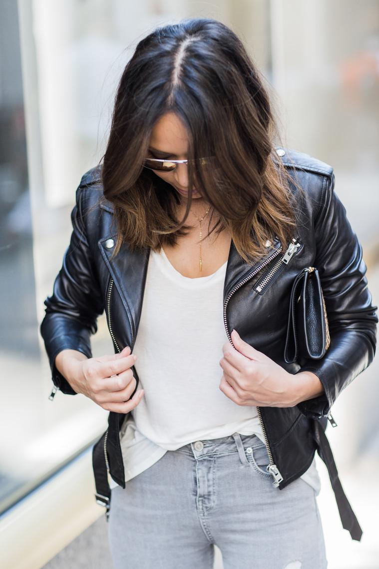 marianna hewitt hair blog iro leather jacket topshop jeans new york street style blog