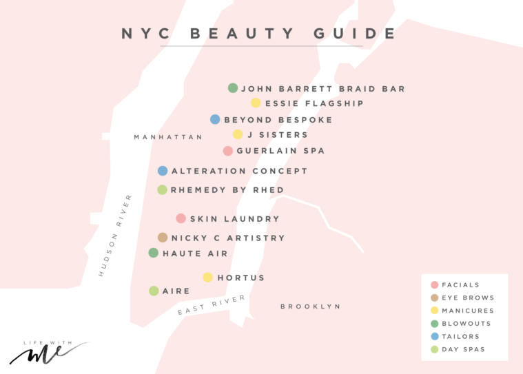 nyc new york beauty best salons spas where to get nails hair makeup eyebrows done review blog
