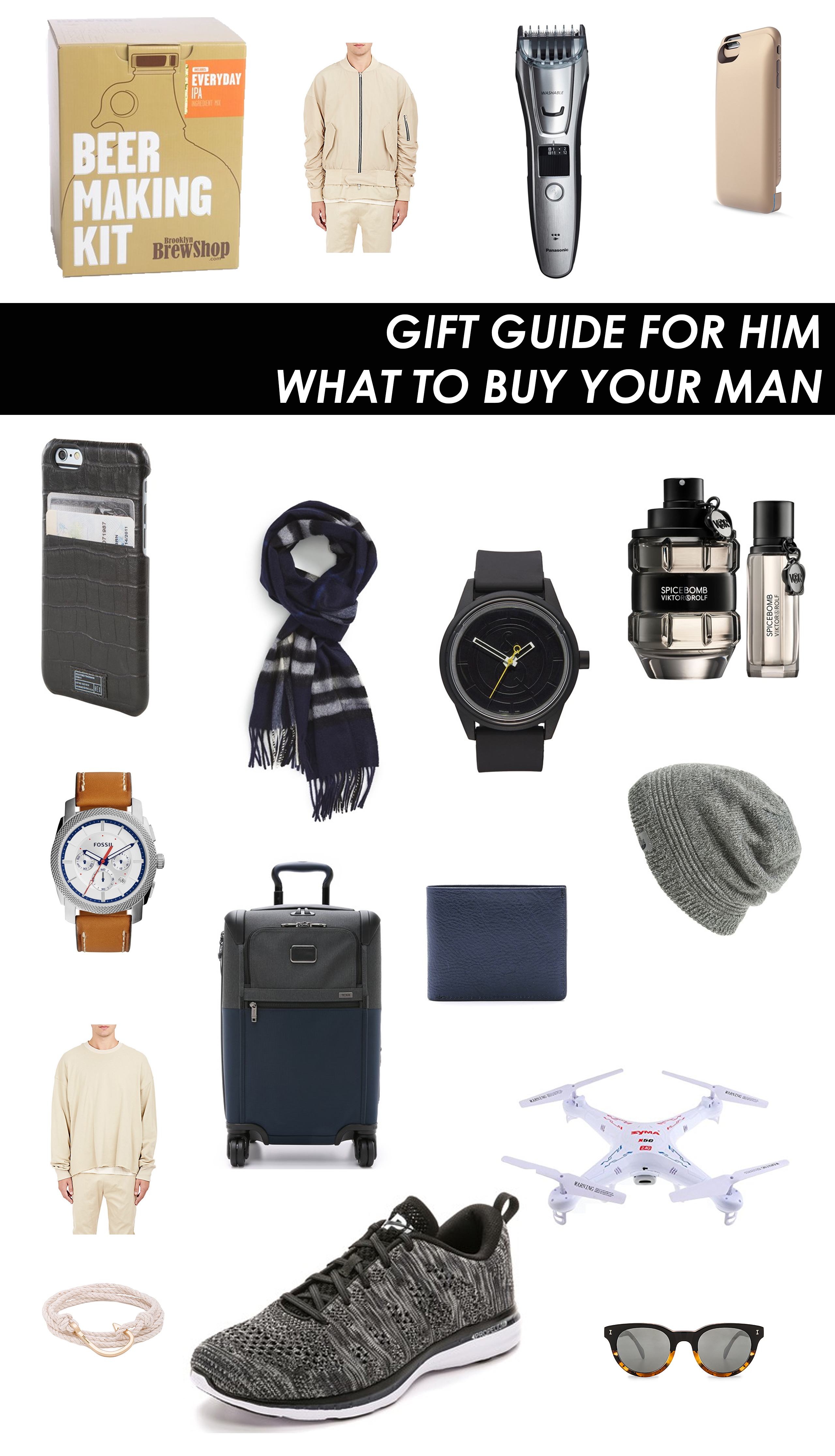 holiday gift guide what to buy your boyfriend husband brother