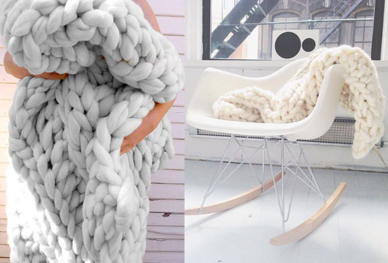 Chunky knit blanket life with me for How to make a big chunky knit blanket