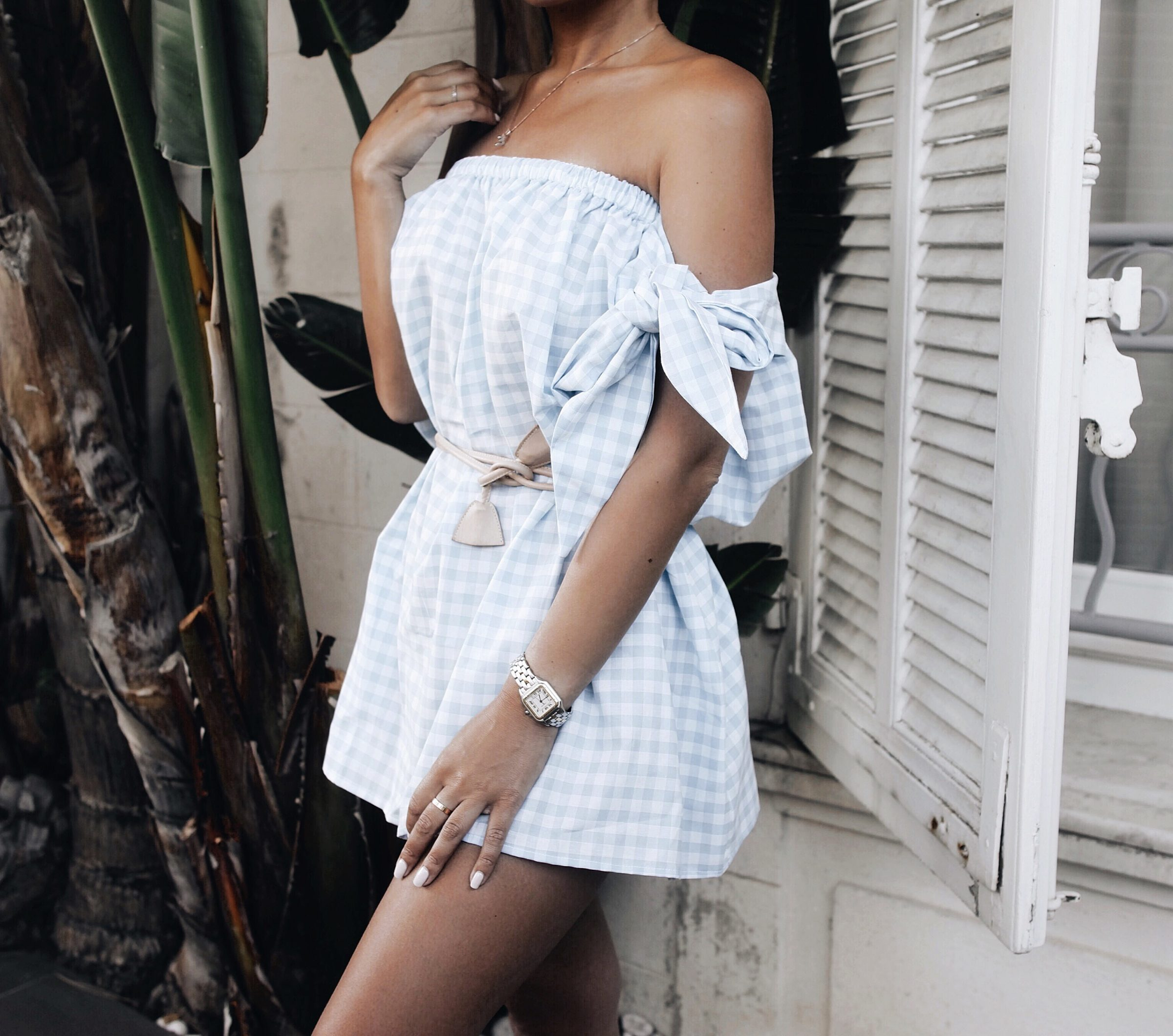 marianna hewitt blogger youtube blog outfit style dress white1921 st tropez