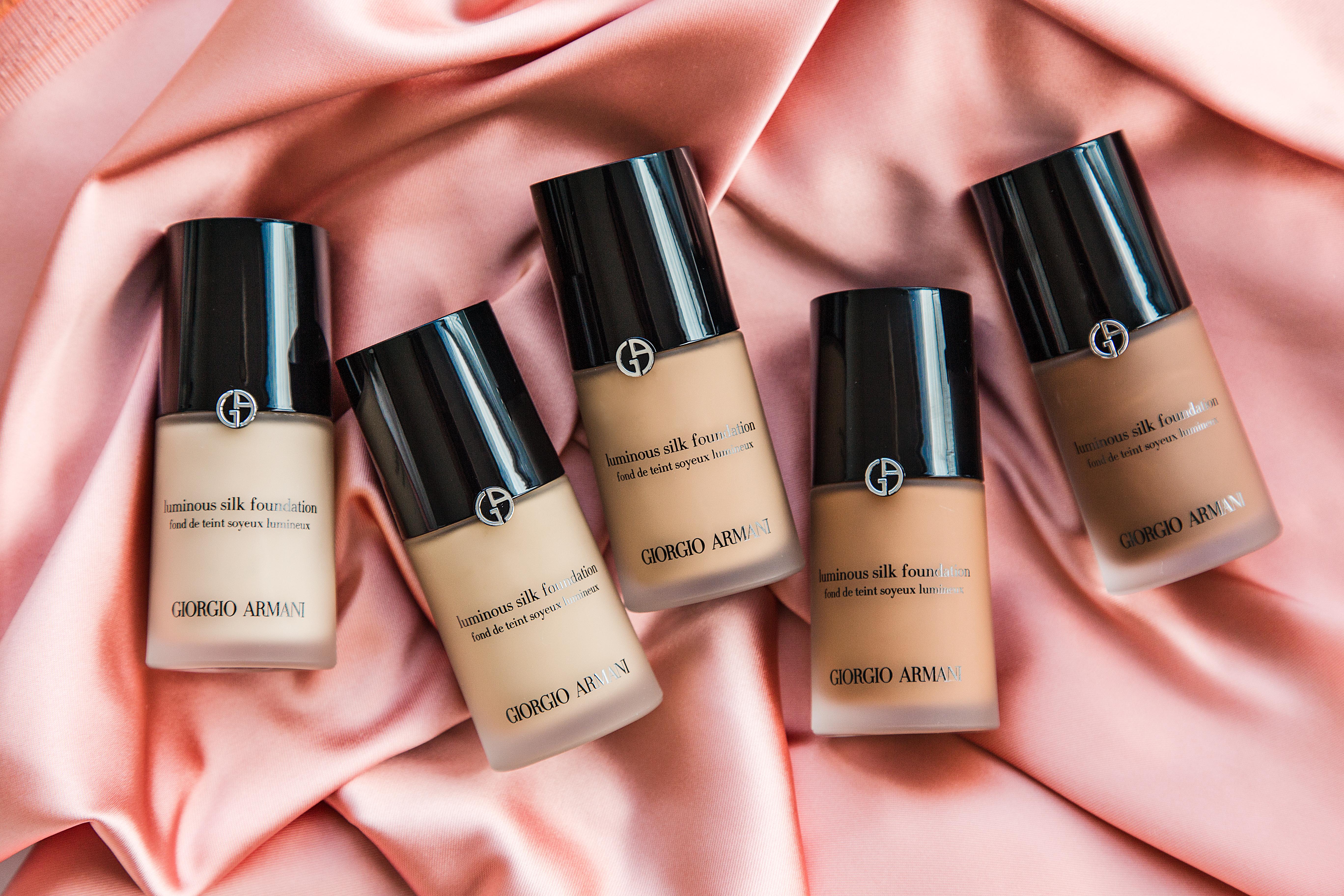 marianna hewitt armani luminous silk foundation review swatch demo first impressions