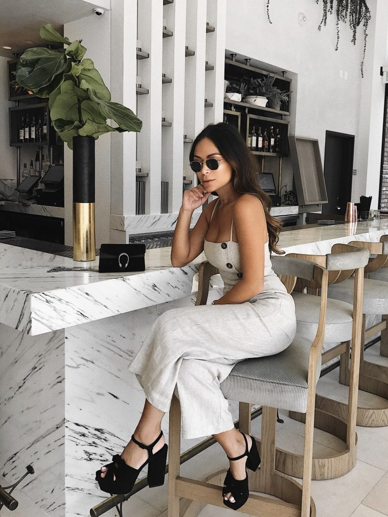 MARIANNA HEWITT dream hotel hollywood saint laurent ray ban gucci reformation jumpsuit petite